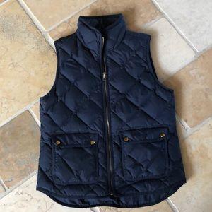 JCrew navy, quilted vest